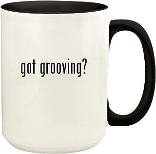 got grooving? - 15oz Ceramic Colored Handle and Inside Coffee Mug Cup, Black