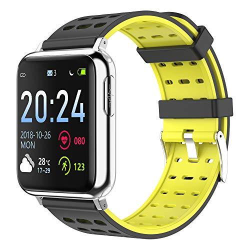 6YGR V5 Pantalla De Color Inteligente Ambiental Lysing Pulsera ECG Y PPG Electrocardiograma Ritmo Cardíaco Monitorización De Oxígeno De La Sangre, Deportes Reloj Impermeable 24Cm Plata