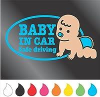 赤ちゃん ステッカー BABY IN CAR (Bタイプ) (アクアブルー)