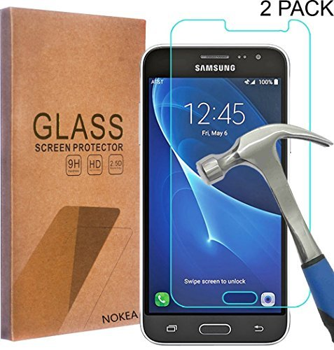 [2 Pack] Samsung Galaxy Express Prime Screen Protector, NOKEA [Tempered Glass] with [9H Hardness] [Crystal Clear] [Easy Bubble-Free Installation] [Scratch Resist] (for Galaxy Express Prime)
