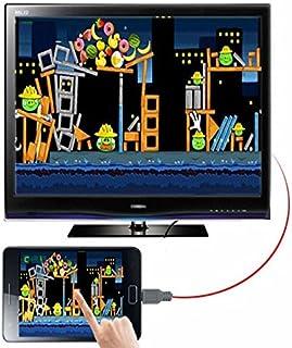 ام اتش ال مايكرو يو اس بي الى HDMI 1080P HD TV كيبل توصيل لاجهزة سامسونج جالكسي S5 نوت 3