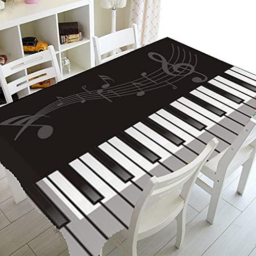 XXDD Decoraciones Elegantes de Notas Musicales para el hogar Mantel de música Musical Rectangular Cubierta de Mesa Tela Comedor Cubiertas de Cocina A1 140x140cm