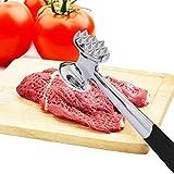 FUNRUI Heavy Duty Metal batticarne in Acciaio Inox Martello Mallet Double-Face Design utensile da Cucina, 22.5cm