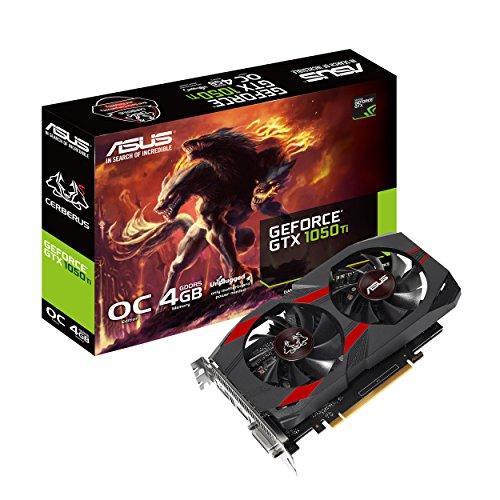 ASUS Cerberus GeForce® GTX 1050 Ti 4GB OC Edition GDDR5 Gaming Card (Cerberus-GTX1050Ti-O4G)