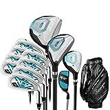 Club de Golf Club de Golf de 12 Piezas Juego Club de práctica de Golf Putter de Golf Rosado for Damas con Guantes Principiante de Golf for Mujeres para Principiantes y avanzados