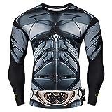 Nessfit Sweat-Shirt de Compression à Manches Longues pour Homme XL Batman Pro.