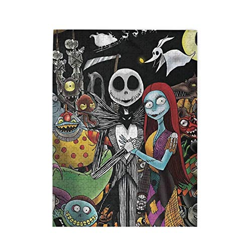 Duwamesva Nightmare Before Christmas Puzzles Leisure 500 Piece Jigsaw Puzzles Wooden Games Artwork for Boys