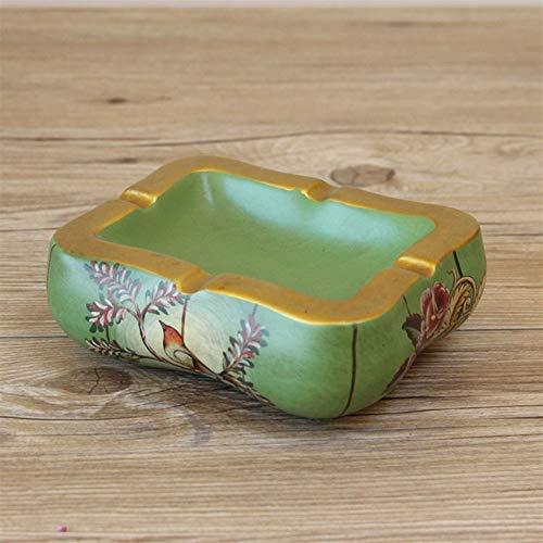 BINGFANG-W Decoración cenicero de cerámica cenicero pastorales Retro Europeo Decorativos Adornos artesanales de Dulces Plato de Fruta pequeña Cenicero