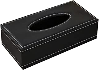 Yoah Automobile PU Leather Paper Drawer Box Tissue Box Holder Rectangular Napkin Holder Drawer Box Suitable for Home Offic...
