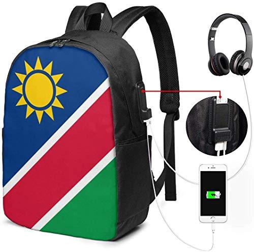 Unisex Rucksack mit USB Ladeanschluss Flaggen von Namibia Classic Fashion General Busin Bookbag