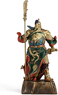 JIN MOON Pure Copper Painting Guan Gong, Opening Company Offering, Copper Guan Gong Buddha Statues,XXL