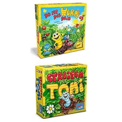 Zoch 601132100 - Da ist der Wurm drin, Kinderspiel des Jahres 2011 + Streifen Toni, Kartenspiel