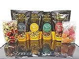 SMARTY BOX Cesta Gourmet Regalo Original Hombre, Caja Aperitivo Frutos Secos, Snacks : Almendra Trufa, Anacardos Barbacoa, Cacahuetes Curry y Dulces , Cumpleaños Padre, Amigos