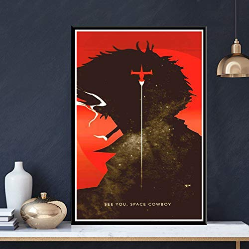 Ami0707 Canvas HD Print Cowboy Bebop Anime Poster Wall Art