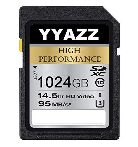 YYAZZ High Speed 1TB SD-Karte UHS-I/U3 Class 10 Flash-Speicherkarte SDXC-Karte (1024GB)