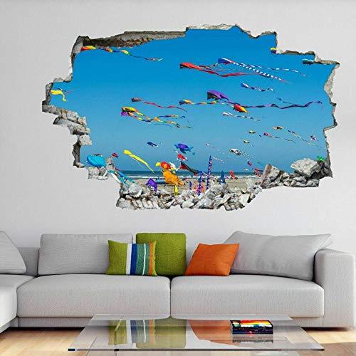 Kite Flying Festival Arte de la pared Pegatinas Mural Calcomanía Vinilo Póster Decoración Niños- 3D arte mural calcomanía - 60x90cm