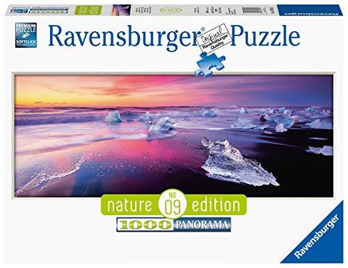 Ravensburger Puzzle Puzzle 1000 Pezzi, Lago Jökulsárlón Islanda, Puzzle per Adulti, Formato Panorama, Nature Edition, Puzzle Ravensburger - Stampa di Alta Qualità