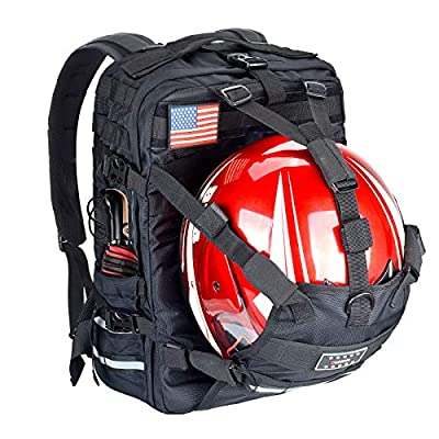 Goldfire Waterproof Large Capacity Expandable Motorcycle Cycling Helmet Backpack With Military Molle Systerm For Riding Hiking Camping (Backpack) from Goldfire Auto Zone