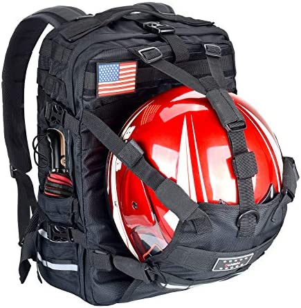 Goldfire Waterproof Large Capacity Expandable Motorcycle Cycling Helmet Backpack With Military product image