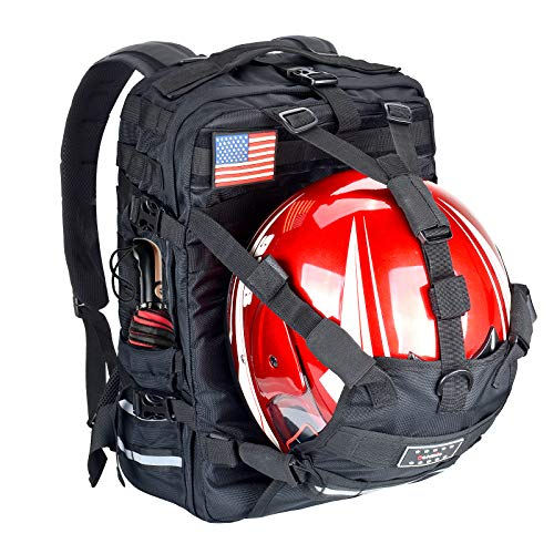 Goldfire Waterproof Large Capacity Expandable Motorcycle Cycling Helmet Backpack With Military Molle Systerm (Backpack)