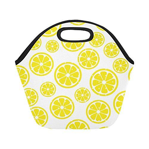 Neopreno aislado Bolsa almuerzo Extracto Limón Reusable
