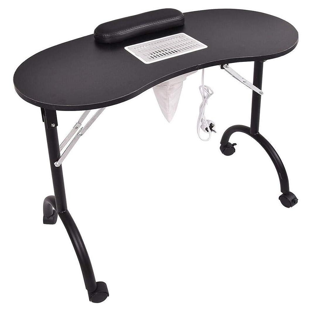 第三ケイ素消費するマニキュアテーブル折りたたみ式ポータブルネイルテーブルベントマニキュアテーブルネイルデスクサロンスパネイル掃除機andbag