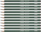 Crayon graphite - STABILO Othello - Lot de 12 crayons graphite H avec tête trempée