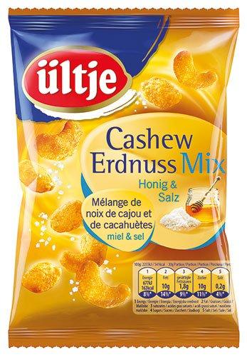 ültje Cashew-Erdnuss-Mix mit Honig und Salz, 4er Pack (4 x 200 g)