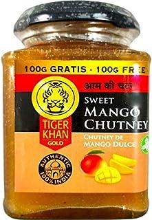 Tiger Khan - Zoete mangochutney - Typische Indiase saus - Ideaal bij vleeswaren - Groente en vis - 300 gram