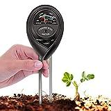 KUNELL PAPO Soil Tester, 3 in 1 Soil Test Kit for Moisture, Light & pH Meter for Plant, Vegetables, Garden, Lawn, Farm, Indoor/Outdoor Plant Care Soil Tester (No Battery Need & Update)(Black)