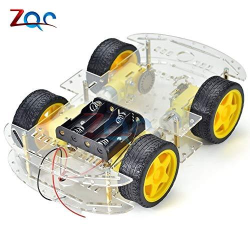 Smart Car Kit 4WD Smart Robot Auto-Chassis-Kits mit Drehzahlgeber und Batteriekasten für Arduino Diy Kit Robot Kit Arduino Diy