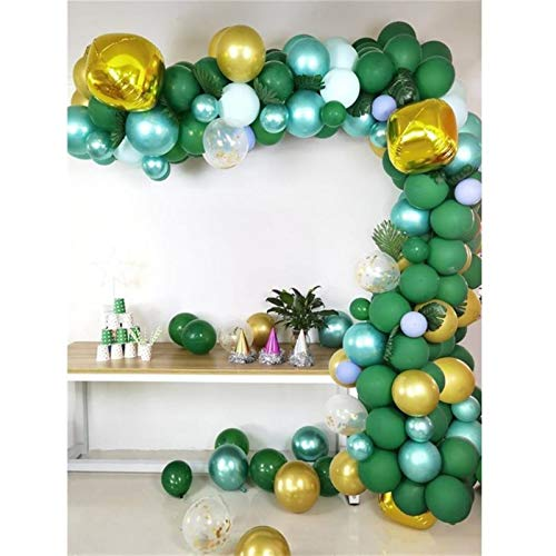 JUNMAIDZ Globos 1 Set 167pcs Jungle Safari Theme Suplementos de Fiesta Globos Guirnalda Guirnalda Kit de Arco para cumpleaños Forest Party (Color : A)