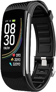 Dewanxin C6T Band Smartwatch Pulsera de Actividad Termómetro,Monitores de Actividad,Pantalla Pulsómetro Fitness Tracker,Mpermeable IP67 Reloj Inteligente,Mujer Hombre Podómetro,para Android y iOS