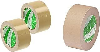 ニチバン 布テープ 中軽量物封かん用 50mm×25m 121-502P 2巻パック &  ラミオフ再生紙クラフトテープ 50mm×50m巻 3105-50 黄土