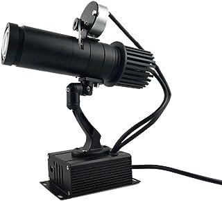 AHWZ Proyector GOBO con Logotipo LED con Control Remoto con Zoom Manual Que Incluye GOBO De Vidrio Personalizado Gratuito A La Imagen del Proyecto,Negro,25W