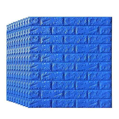 ZKORN Wandaufkleber Peel and Stick 5D Wandpaneele Für Innenwanddekor Blue Brick Wallpaper Moderne Hintergrund Tv-Decor