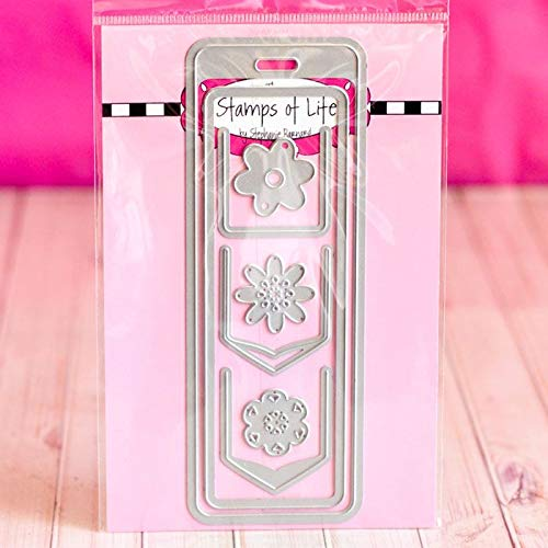 Bookmark Flower Die Set for Card-Making and Scrapbooking by The Stamps of Life
