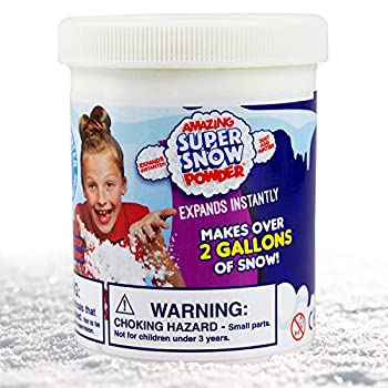 Amazing Super Snow Powder By Be Amazing! Toys - Faux Snow - Makes Over 2 Gallons Of Artificial Snow - Includes Plastic Bucket Shovel & Mess-Free Play Mat - Non-toxic Snow For Kids – Ages 4+