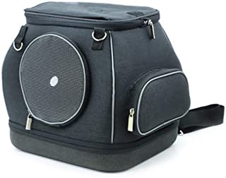 Portable Pet Bag Outdoor Pet Travel Bag Breathable and Easy to Carry 30 × 25 × 30cm CQOZ (Color : Black)
