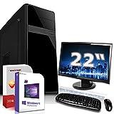 Komplett PC-Paket Set • AMD FX-8800 4X3.4GHz • 8GB DDR4 • 500GB HDD •Radeon DirectX 12 HDMI • WLAN • USB 3.1 • Win10 • 22 Zoll LED TFT Monitor • Computer