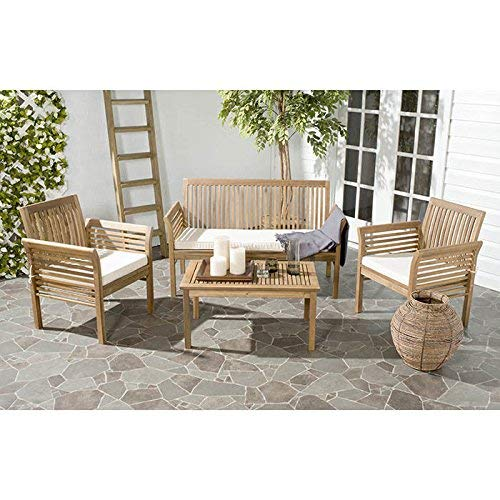 Safavieh Outdoor Living Collection Carson 4-Piece Outdoor Living Set
