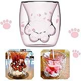 Amycute Carini Cat Paw tasse, bicchieri da caffè, bicchieri da caffè, a doppia parete, t...