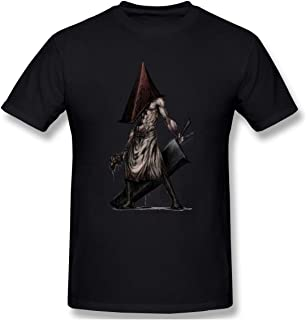 Men's Crewneck Basic Short Sleeve T-Shirt Silent-Hill Cotton Casual Tops