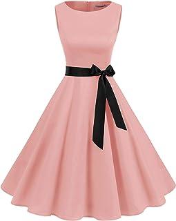 Mujer Audrey Hepburn Rockabilly Vintage Vestido 1950s Retro Cóctel Swing Fiesta Vestido