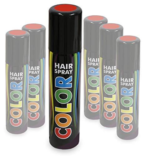 KarnevalsTeufel Hairspray Color buntes Haarspray Haarschmuck farbig (Rot)