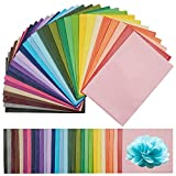 210 Sheets Colored Tissue Paper, 20 x14 Inches Art Tissue Paper Bulk for Gift Wrapping, Crafts Projects for Kids, Party Decors, 30 Rainbow Multicolor Wrap Paper