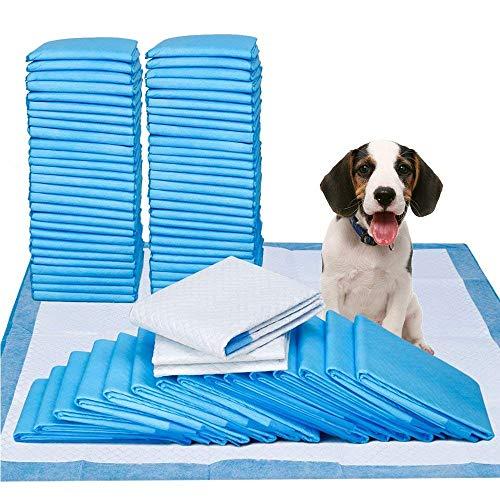 Youyababay Pet Training Puppy Pads, Trainingsunterlagen für Welpen, super saugfähig, einzigartige 5-Schicht-Lösung, Packung zu 50 Stück, Größe 45 x 60 cm