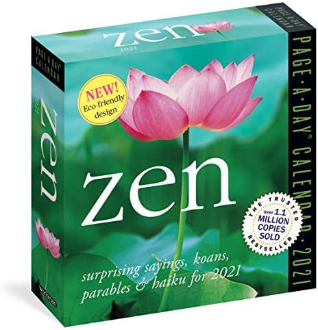 Zen Page A Day Calendar 2021 6 x 6 Inches product image