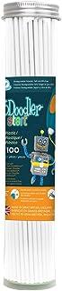 3Doodler 3DS-ECO01-WHITE-100 Start Plastic Filament Refills Tube, Simply White (X100 Strands)