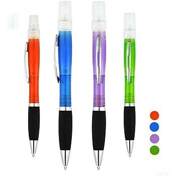 ORILEY Pocket Sanitizer Spray Ball Pen Portable Personal Hand Sanitizer for Home, Office, Car, Hypermarket & Hotel (4 PCS, Random Colour)